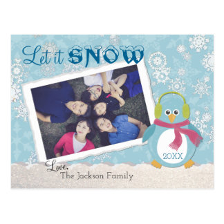 "Chilly Penguin ""Let It Snow"" Photo Postcard"