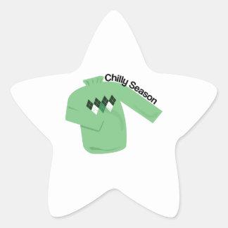 Chilly Season Star Sticker