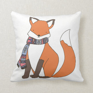 Chilly Winter Fox Cushion