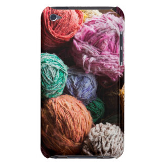 Chiloe wool yarn dyed with natural dyes barely there iPod cover