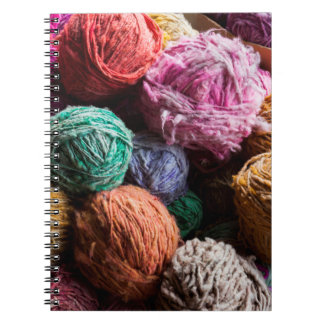 Chiloe wool yarn dyed with natural dyes notebook