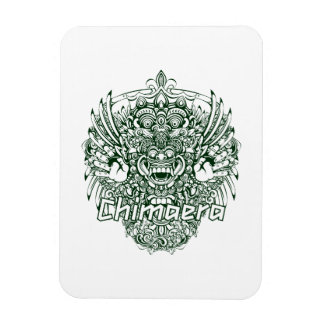 chimaera affected design green rectangle magnets