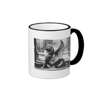 Chimaera from the St. Michel fountain, Paris Ringer Coffee Mug