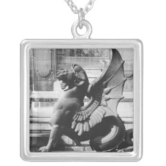 Chimaera from the St. Michel fountain, Paris Silver Plated Necklace