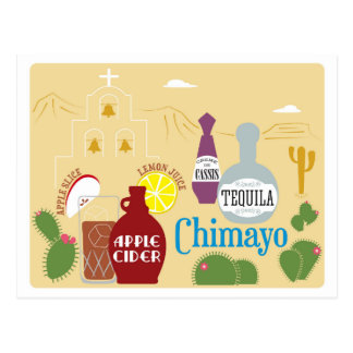 Chimayo Cider and Tequila Cocktail Postcard