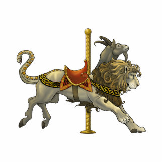 Chimera Carousel Cutout Pin/Ornament/Magnet Photo Cut Out