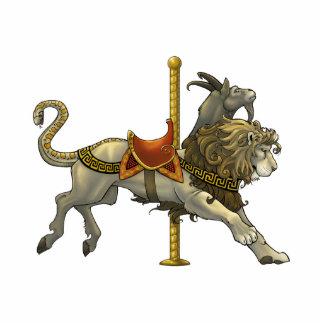Chimera Carousel Cutout Pin/Ornament/Magnet Standing Photo Sculpture