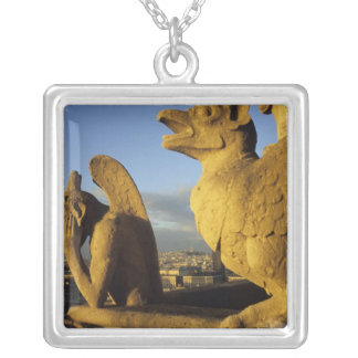 Chimera, re Dame Cathedral, Paris, France Silver Plated Necklace