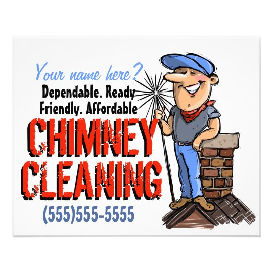 Chimney Cleaning Sweep Cleaner Customisable Promo Flyer