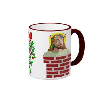 Chimney Jesus Ringer Coffee Mug