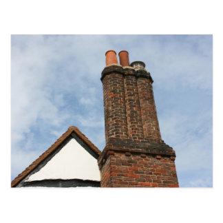 Chimney on Tudor house, Amersham UK Postcard