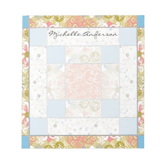 Chimney Quilt Block Personalized Notepad