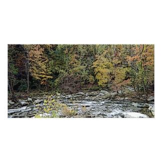Chimney Rock Creek Seasons Greetings Photo Card