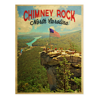 Chimney Rock North Carolina Postcard