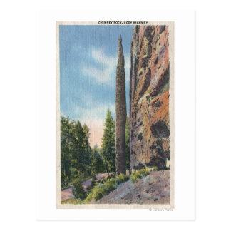 Chimney Rock on Cody Highway, Montana View Postcard