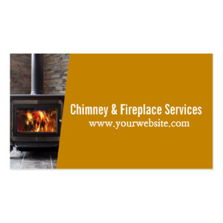 Chimney Sweep Fireplace Cleaning & Repairs Pack Of Standard Business Cards