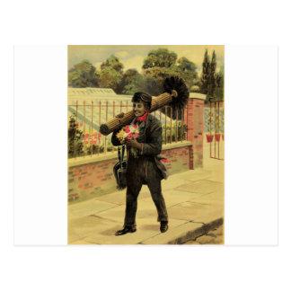 Chimney sweep of love postcard