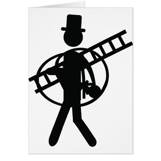 chimney sweeper good luck card