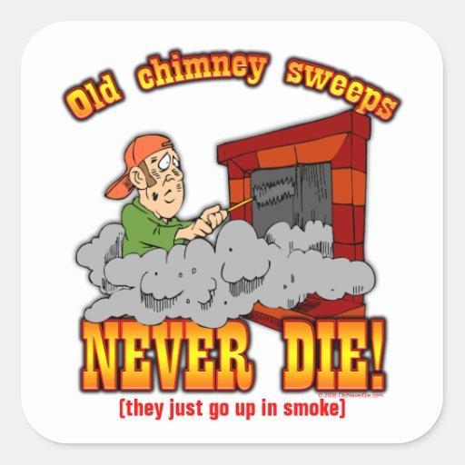 Chimney Sweeps Square Sticker