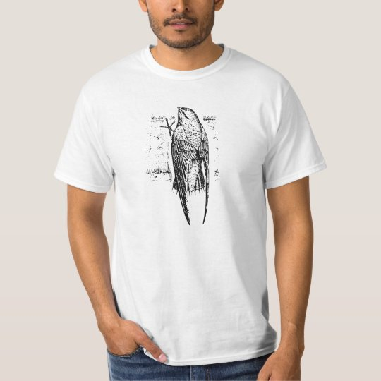 Chimney Swift Bird Art T-Shirt
