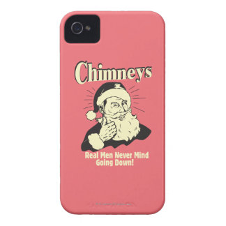 Chimneys: Real Men Never Mind Going Down iPhone 4 Cases
