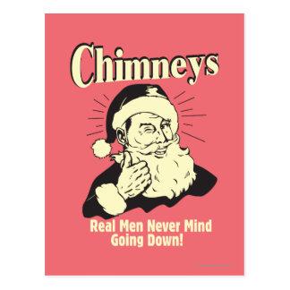 Chimneys: Real Men Never Mind Going Down Postcard