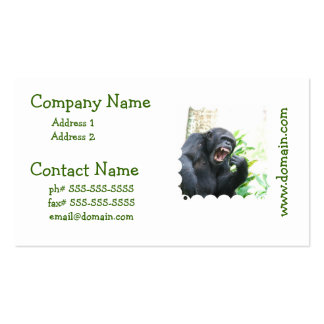 Chimp Baring Teeth Business Cards