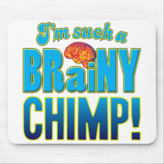 Chimp Brainy Brain Mouse Pads