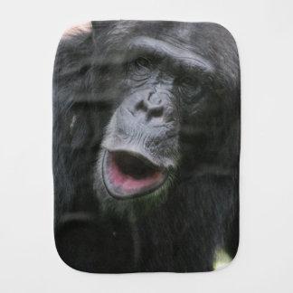 Chimp Chat Burp Cloths