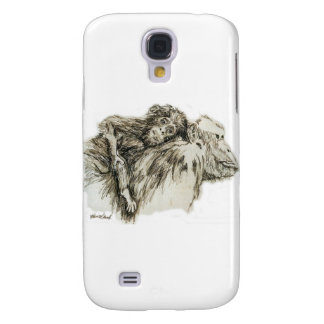 Chimp hitching a ride galaxy s4 cover