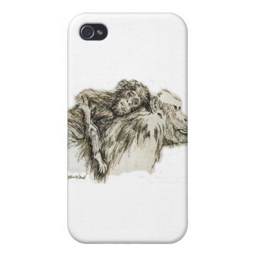 Chimp hitching a ride iPhone 4/4S covers