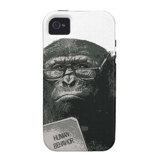 Chimp Reading iPhone 4/4S Case