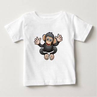 Chimp Safari Animals Cartoon Character Baby T-Shirt