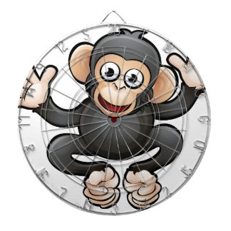 Chimp Safari Animals Cartoon Character Dartboard
