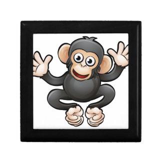 Chimp Safari Animals Cartoon Character Small Square Gift Box