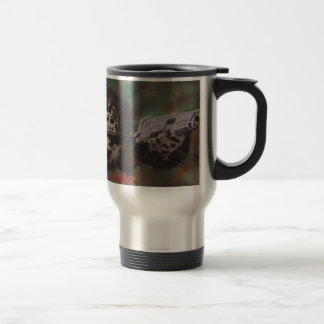 Chimp shooting travel mug