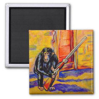 Chimp with a Gun Magnet