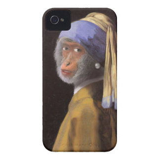 Chimp With The Pearl Earring Case-Mate iPhone 4 Cases