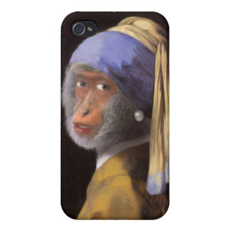 Chimp With The Pearl Earring Covers For iPhone 4