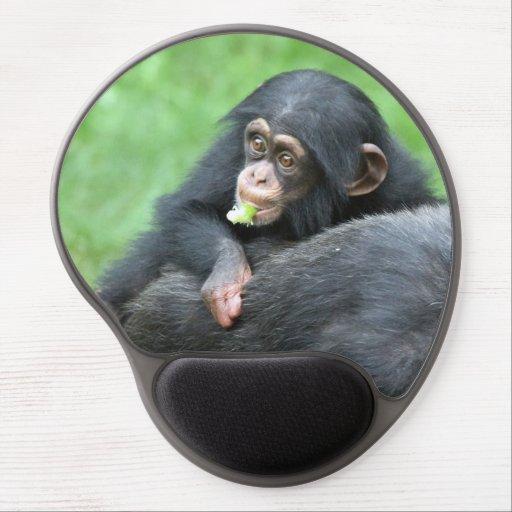 Chimpanzee 005 gel mouse pads