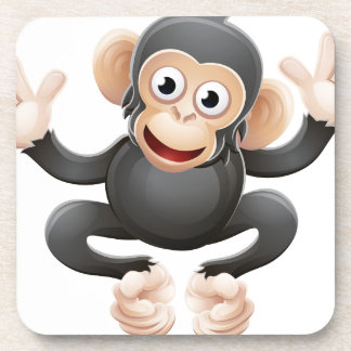 Chimpanzee Animal Cartoon Character Coaster