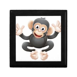 Chimpanzee Animal Cartoon Character Small Square Gift Box
