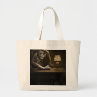 Chimpanzee Ape Monkey Large Tote Bag