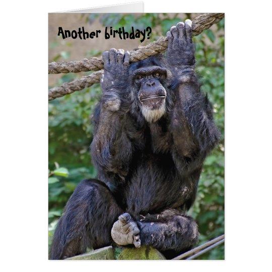 Chimpanzee Birthday Humour Card