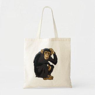 chimpanzee budget tote bag