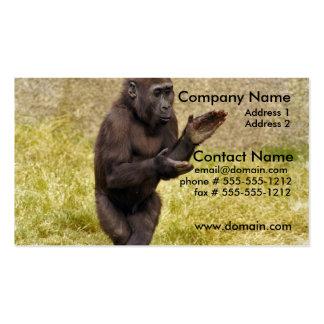 Chimpanzee Business Card
