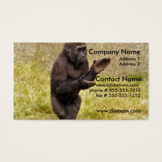 Chimpanzee Business Card