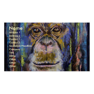 Chimpanzee Double-Sided Standard Business Cards (Pack Of 100)