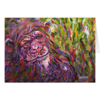 Chimpanzee Card
