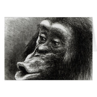 Chimpanzee Disappointed and Sulky Card